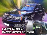 SIDE WINDOW AIR DEFLECTORS for car Land Rover Range Rover Sport 5D, 2005 =>,  front + rear door