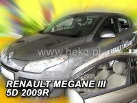Window deflector RENAULT Megane III 5D, 2008 =>, front door