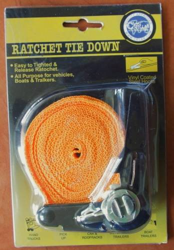 Ratchet Tie Down 4,5 m, 300kg Vyrobeno v EU