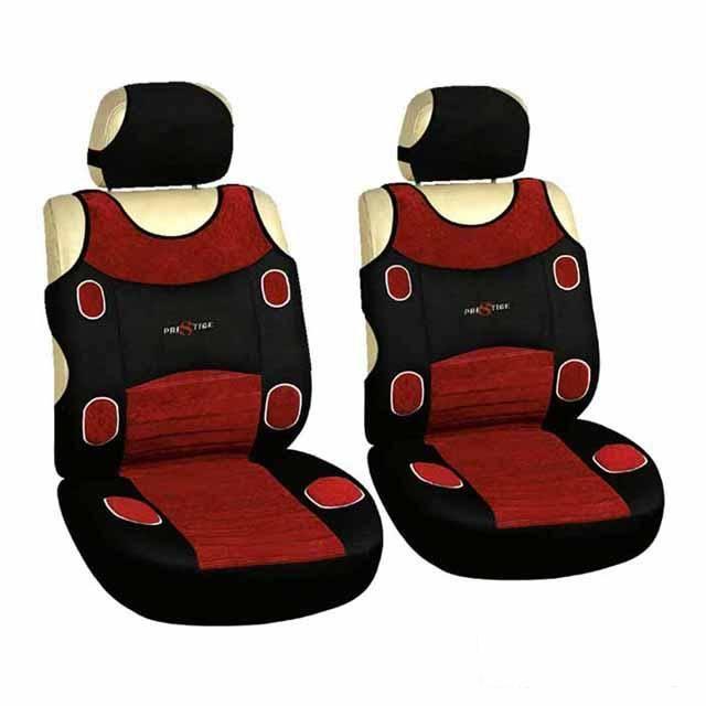 Seat covers LAS VEGAS 1 +1 red Vyrobeno v EU